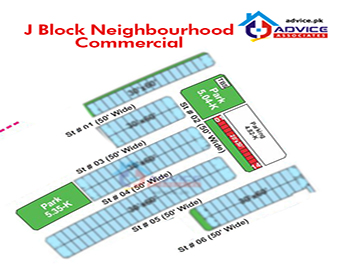 Bahria Town J Block Commercial Map