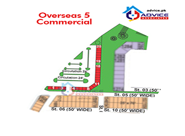 Bahria Greens Sector 5 commercial Map