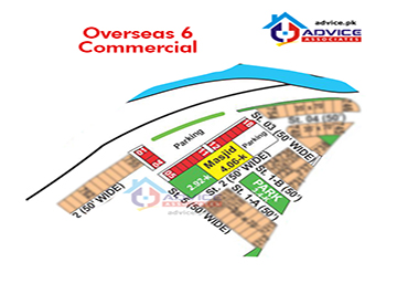 Bahria Greens Sector 6 Commercial Map