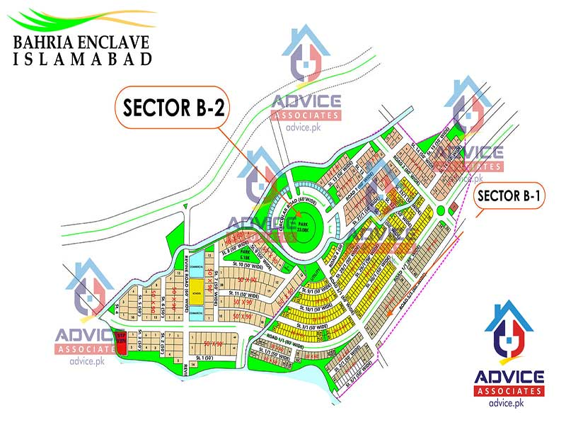 Bahria Enclave Sector B Map
