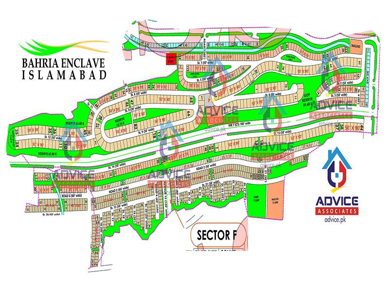 Bahria Enclave Sector F Map
