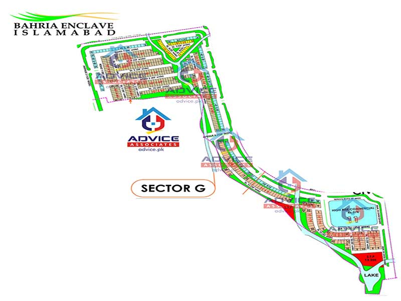 Bahria Enclave Sector G Map