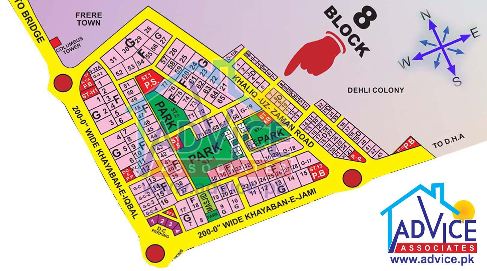 Clifton Karachi Map Bath Island Karachi Map