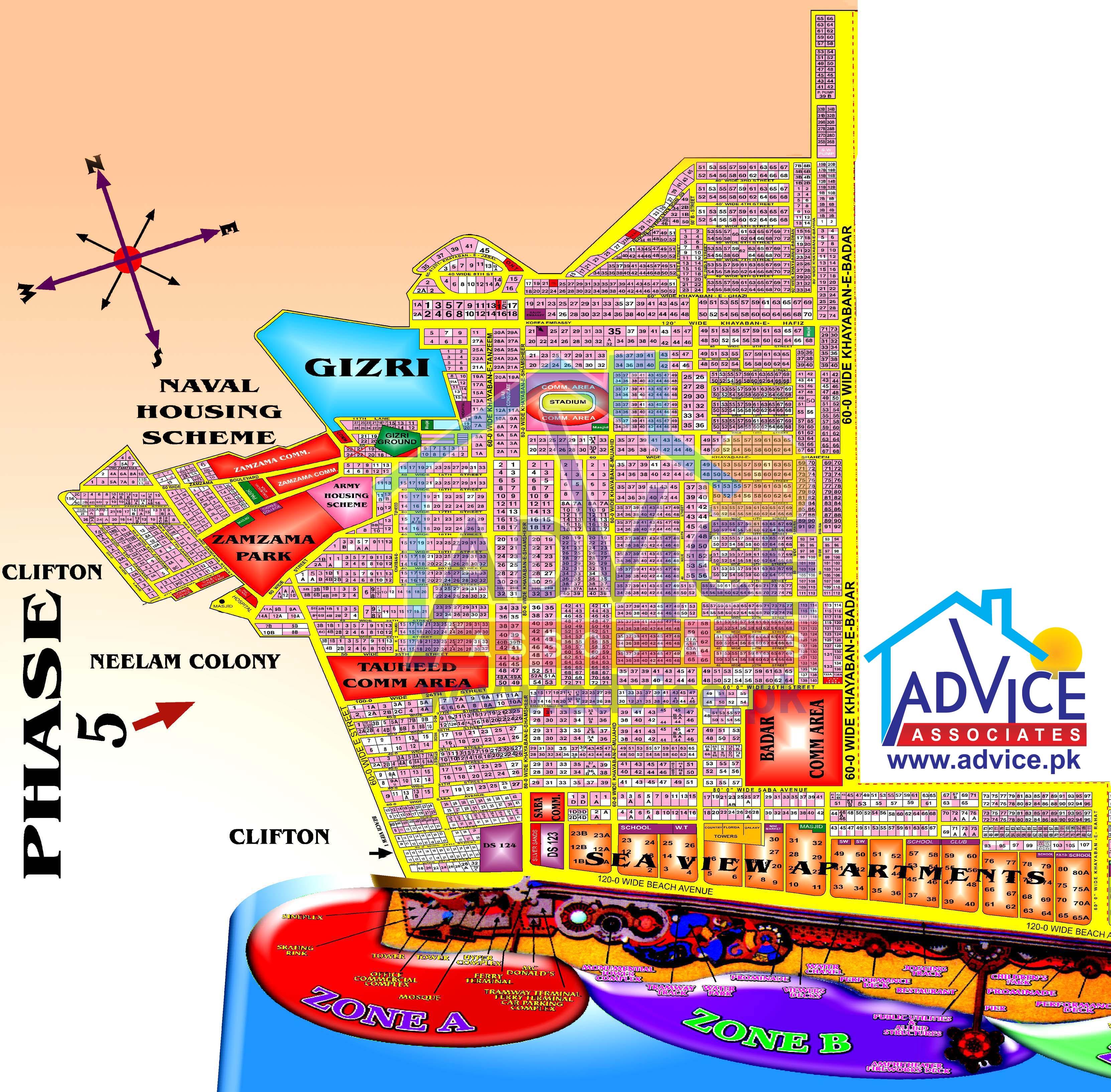 Dha Karachi Maps Map Dha Karachi