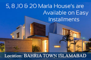 Houses are available on installments