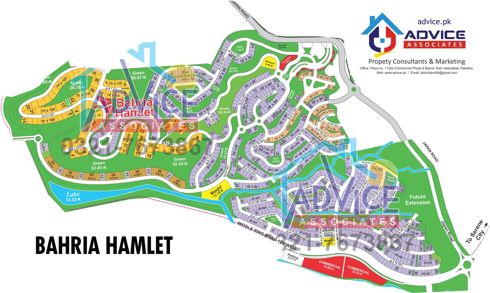 Bahria Hamlet Map