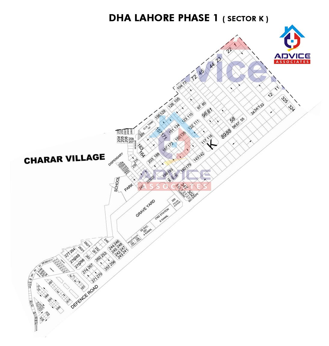 DHA Lahore Phase 1 sector K