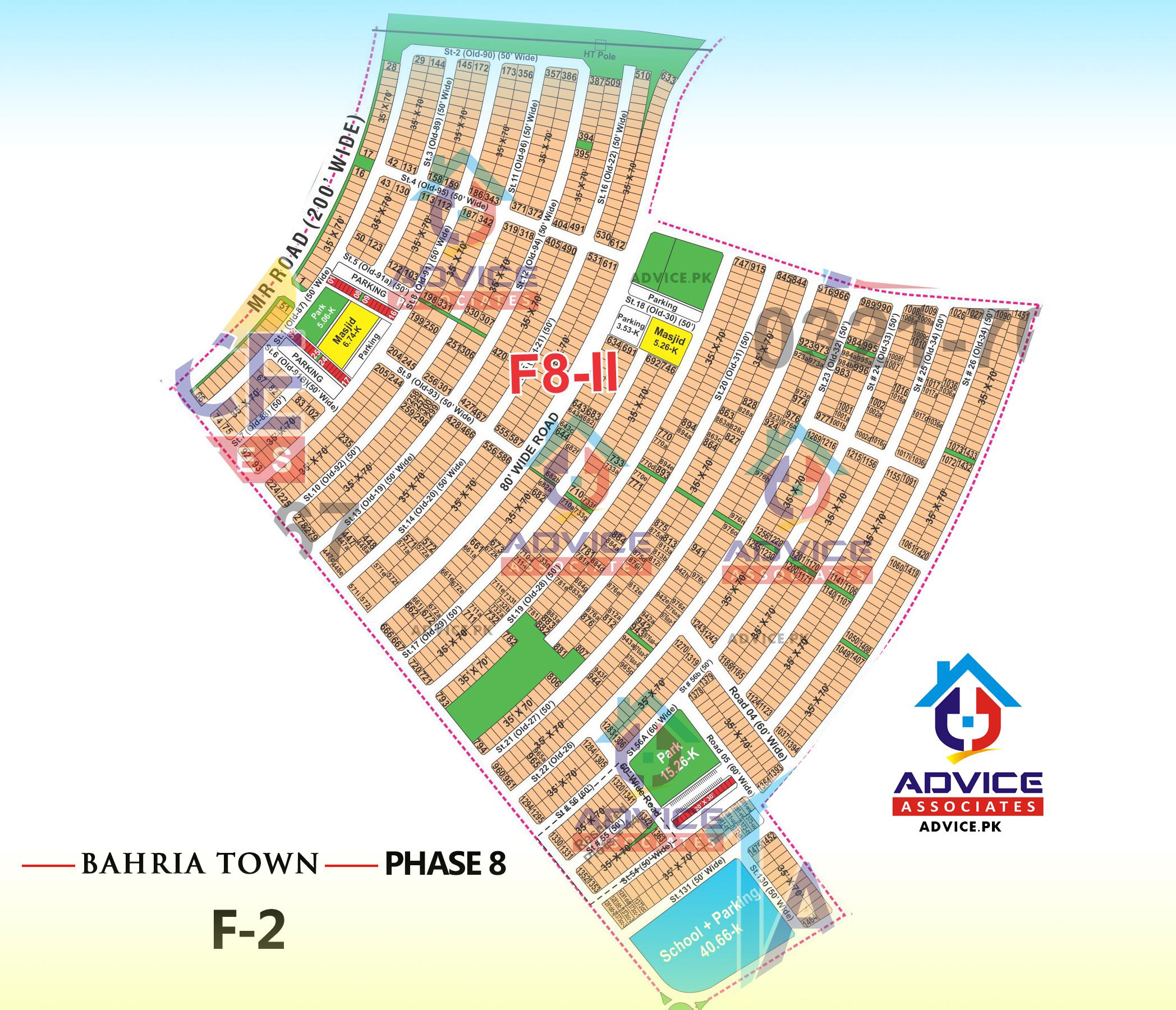 Bahria Town Phase 8 F2 Block