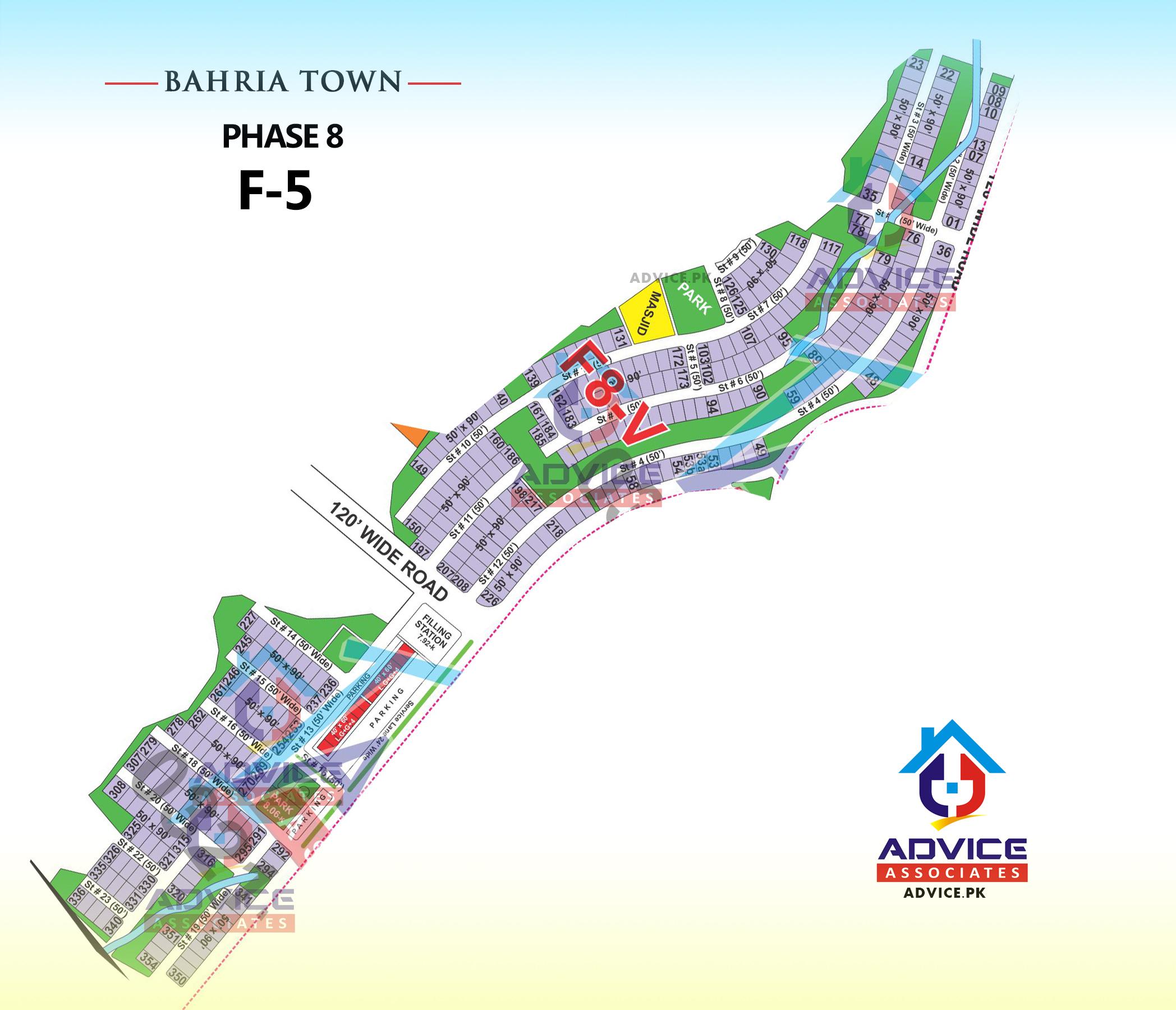 Bahria Town Phase 8 F5 Block