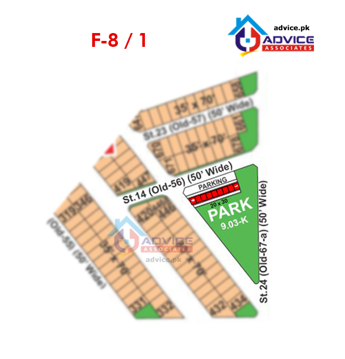 Bahria Town Phase 8 F1 Commercial Map