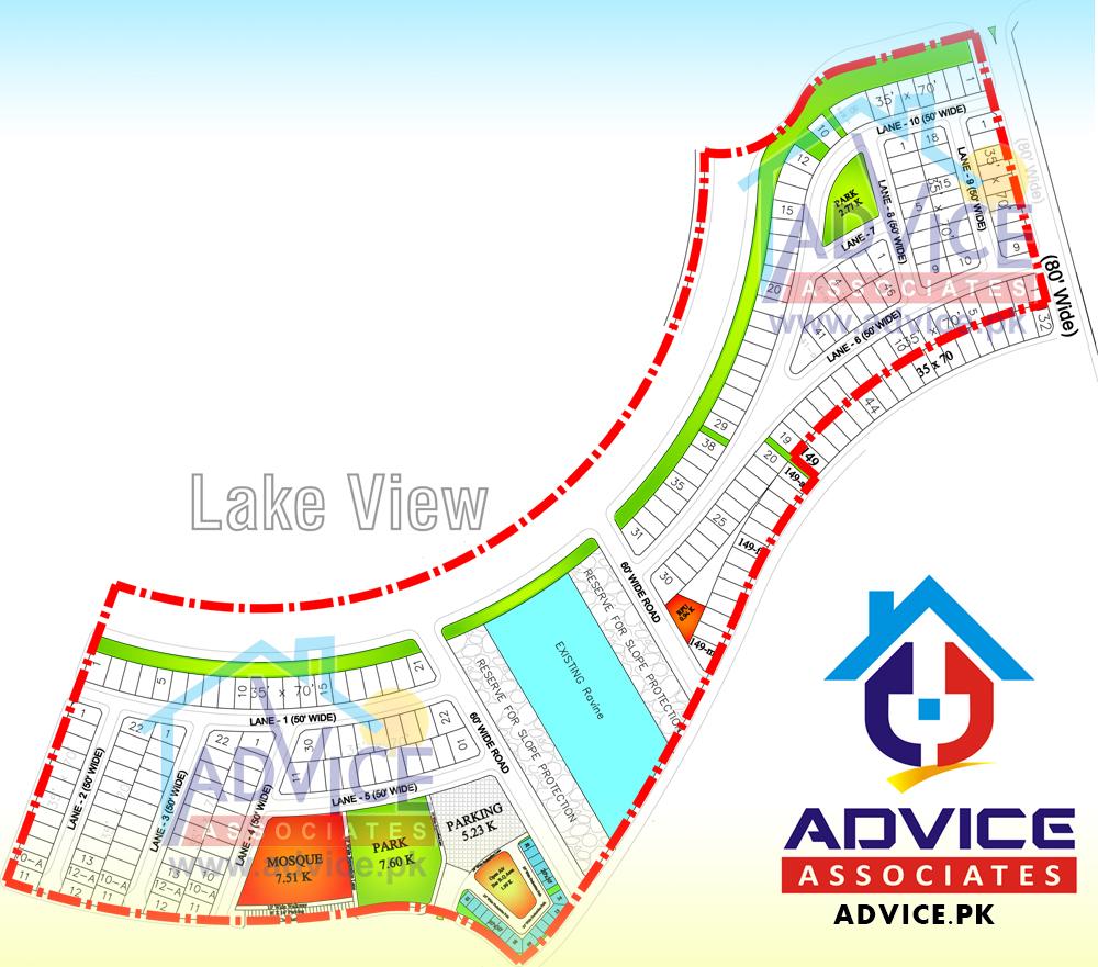 Bahria Town Phase 8 Lake View Block