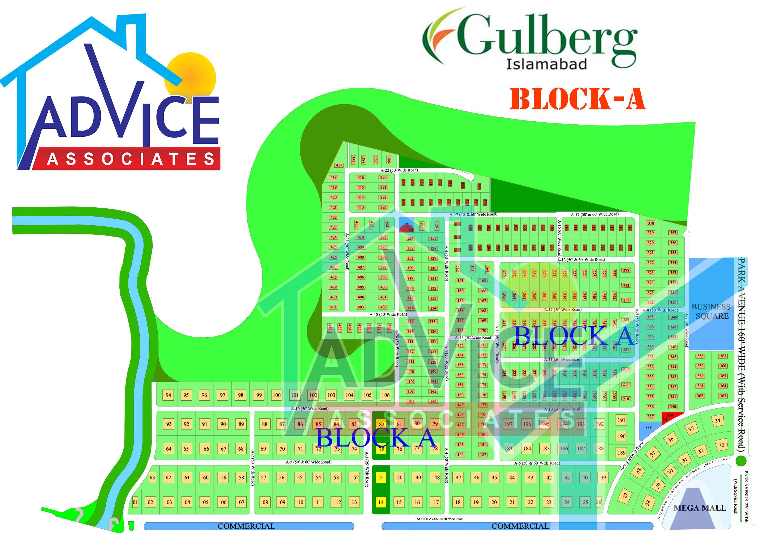Gulberg Farm Houses Block A Map