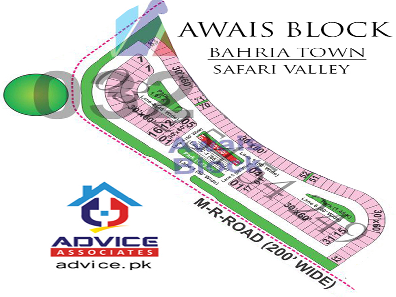 Awais Block Safari Valley Map