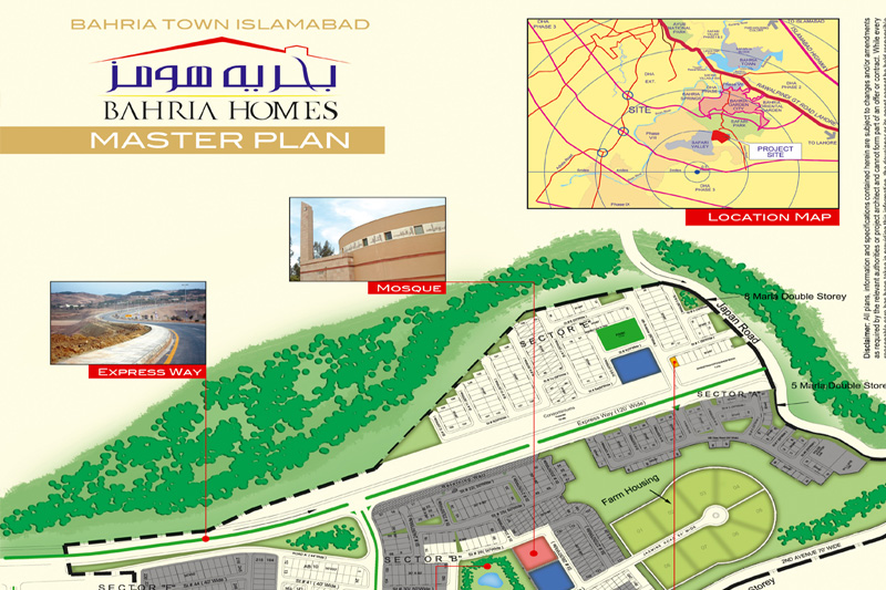 Bahria Homes MAp