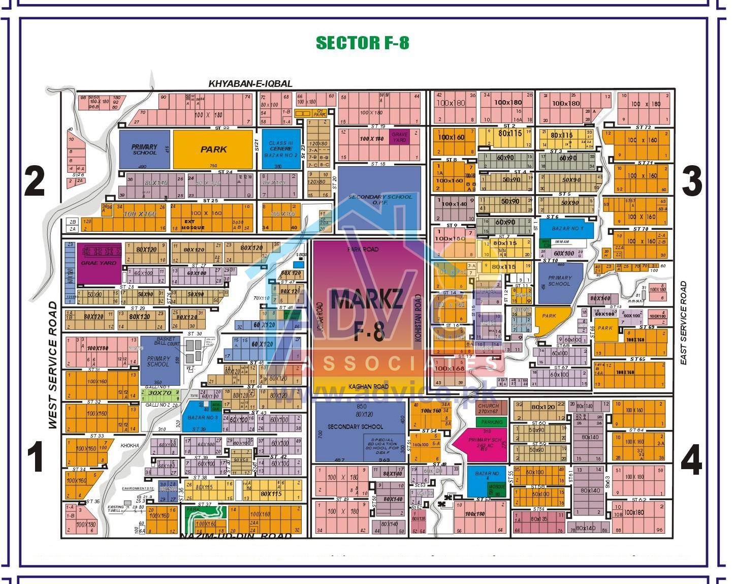 Islamabad Maps   CDA Sectors Islamabad   Maps Islamabad   Islamabad