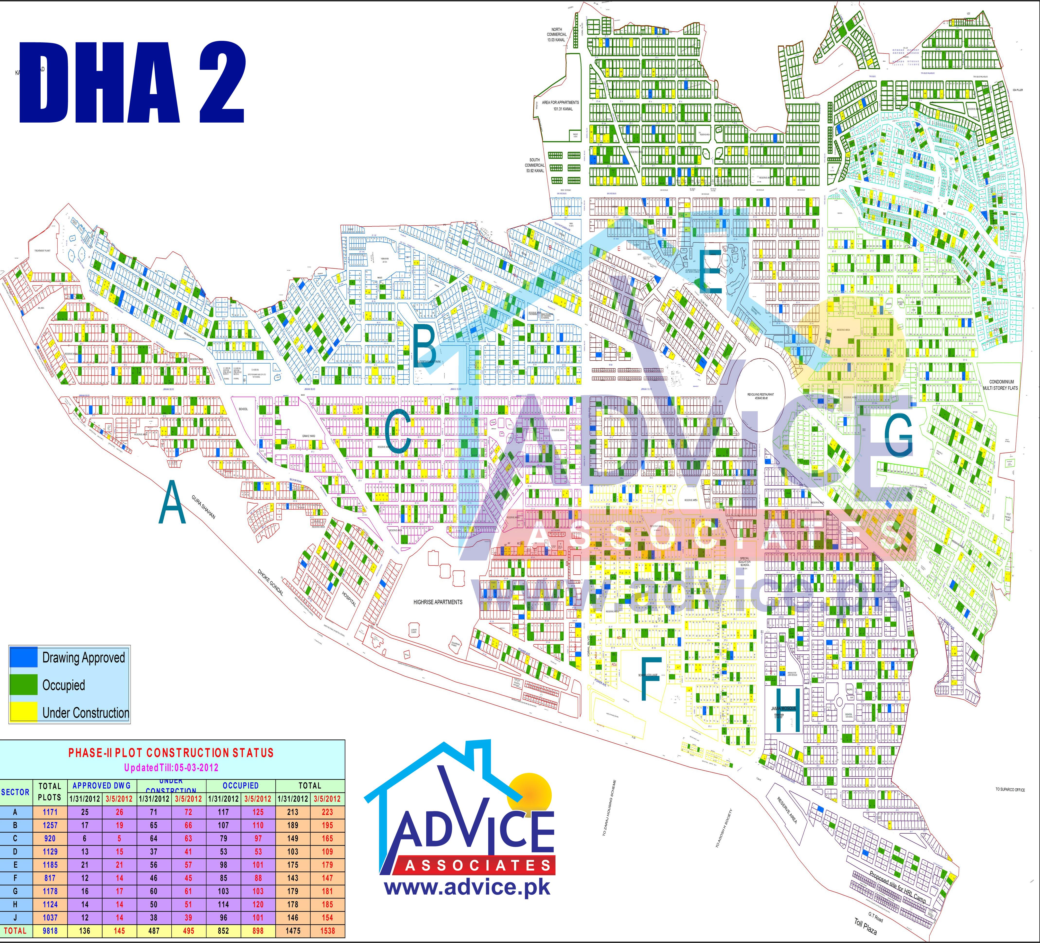 DHA Islamabad Maps | Master Plan DHA Islamabad