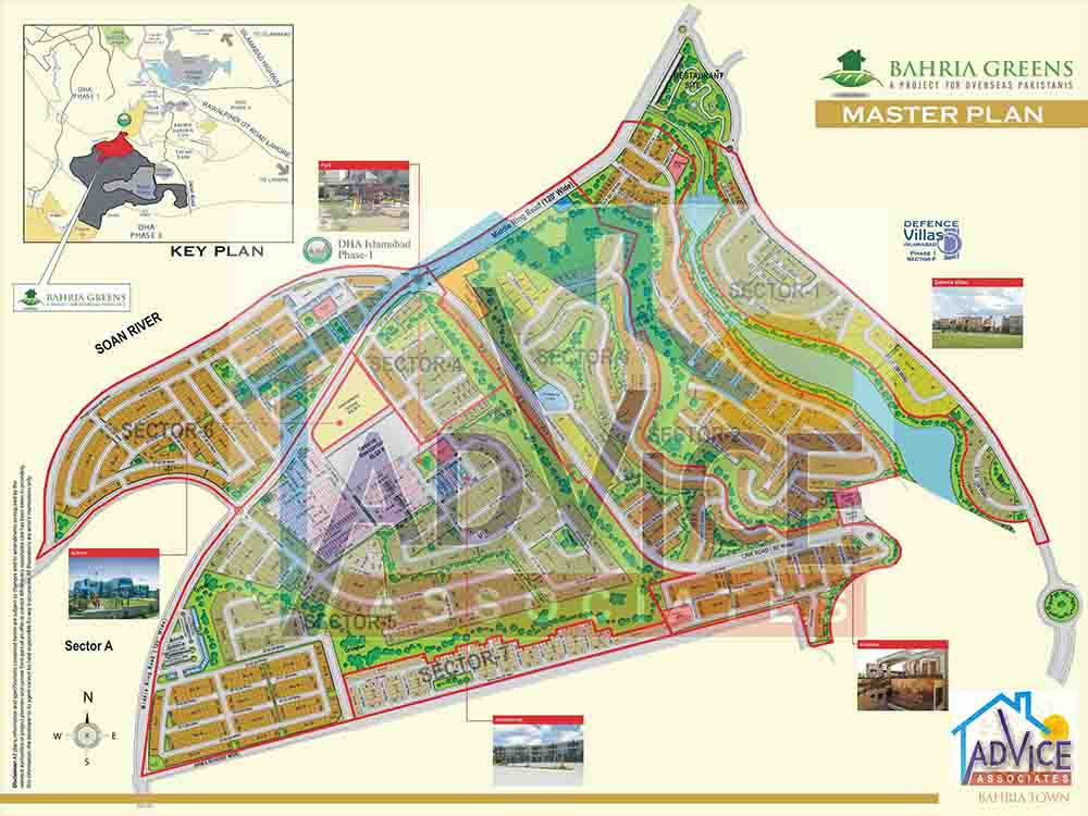 Bahria Greens Map
